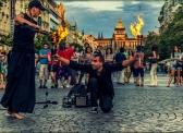 Fire shoew s Václavem